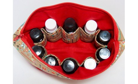 13 Bottle Essential Oil Carrying Case (5ml,10ml,15ml) For Doterra, Young Living Bottles For Aromatherapy Travel Or Storage