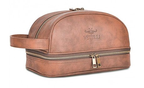 Leather Mens Boys Toiletry Bag Canada