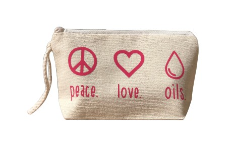 Peace Love Oils Essential Oils Bag With Wristlet