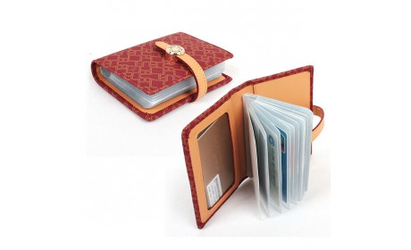 PU leather credit card holder business card holder with card slots