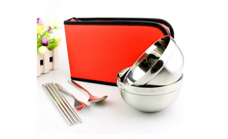 Outdoor Travel Portable Tableware Cutlery Set Camping Picnic Bag