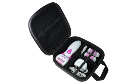 Personal Care Foot Care Electric Rechargeable Pedicure Sets Travel Tool Case