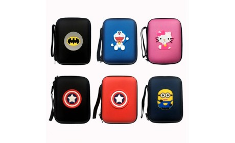 Cartoon Shockproof Mobile Hard Disk Package EVA Case
