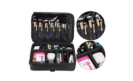 Travel Organizer Large Space Makeup Cosmetic Brush Handle Shoulder Bag