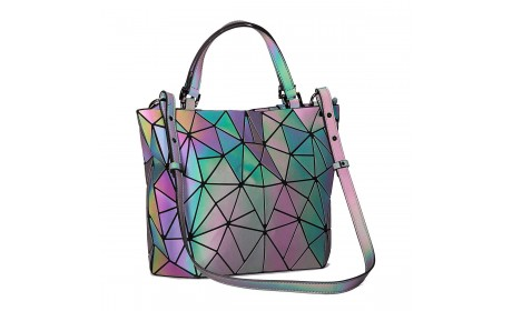 Colorful Geometric Luminous Women Tote handbag