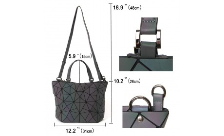Colorful Geometric Luminous Women Tote handbag (6)