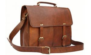 Wholesale travel vintage leather man briefcase laptop shoulder handbag UK
