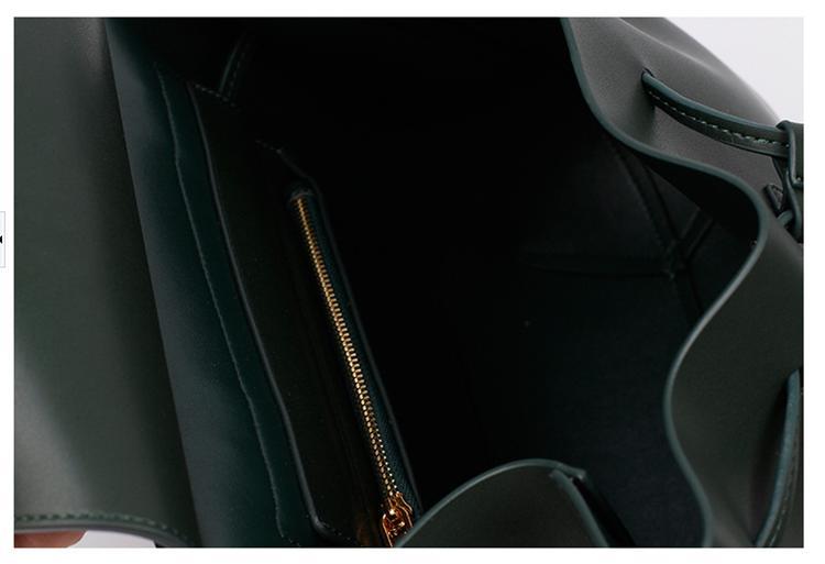 portable large lady leather Bucket bag shoulder bag tote bag
