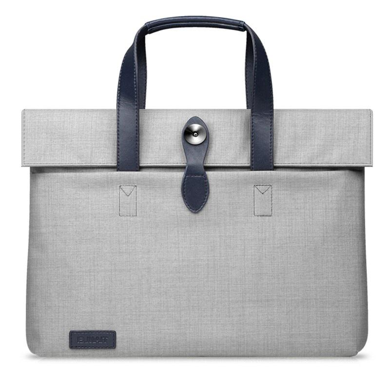 Gray 11 inch 13 inch laptop handbag with zippers closure wholesale for travel business storage