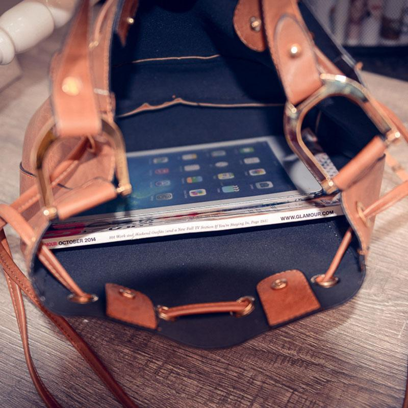 Drawstring Handbag College School Bag for Girls Students