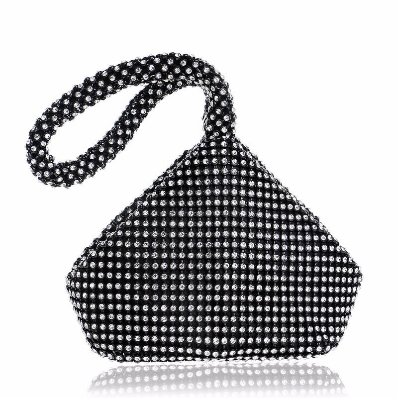 Barlaycs Luxury Shining Crystal Evening Lady Bag Women Bag Handbag, Cosmetic bag/Makeup bag/Purse