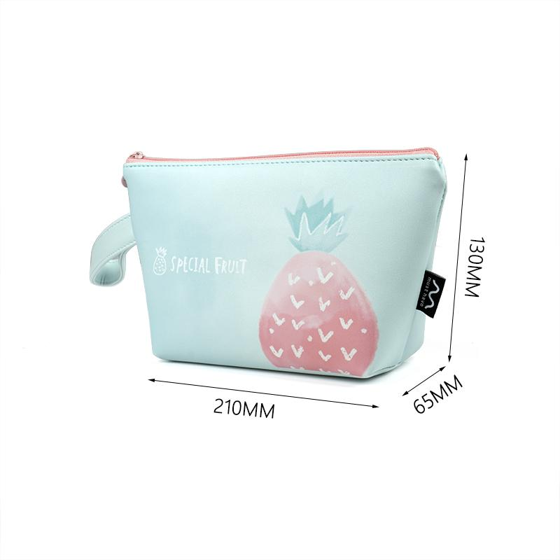 Factory Wholesale Small Print Logo Custom PU Leather Beauty Cosmetic Bag