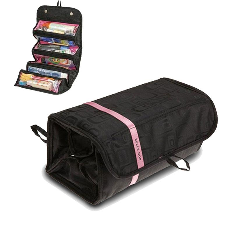 Travel Toiletry Bag Organiser Wholesale Rolling UP Cosmetic Bag for Women Foldable Hanging Cosmetic Bag