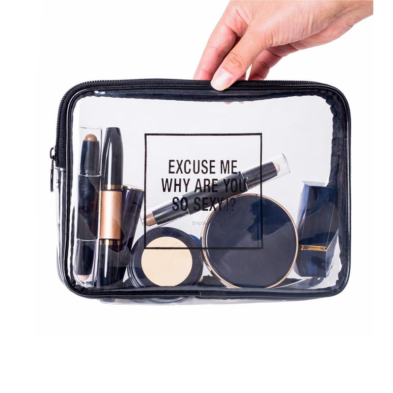 Promotional Customized Pouch Clear Pvc Gift Makeup Bag For Cosmetics