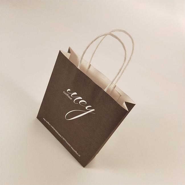 White Kraft Shopping Paper Bag with Cosmetic