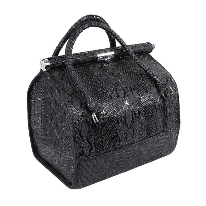 Amazon Hot Sale Lady Leather Cosmetic Makeup Bag