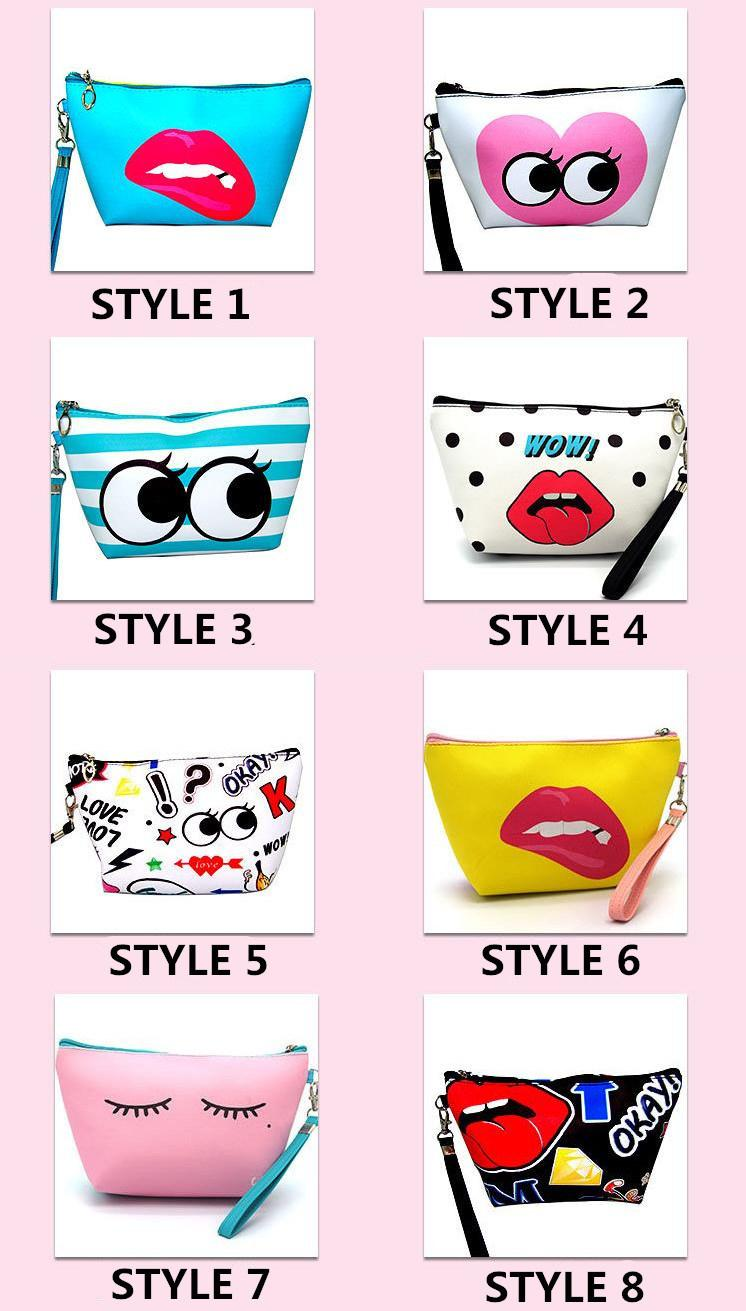 PU Leather Clutch Purse Pouch Lady Hand Bag Women Wallet Bag Cosmetic Makeup Bag
