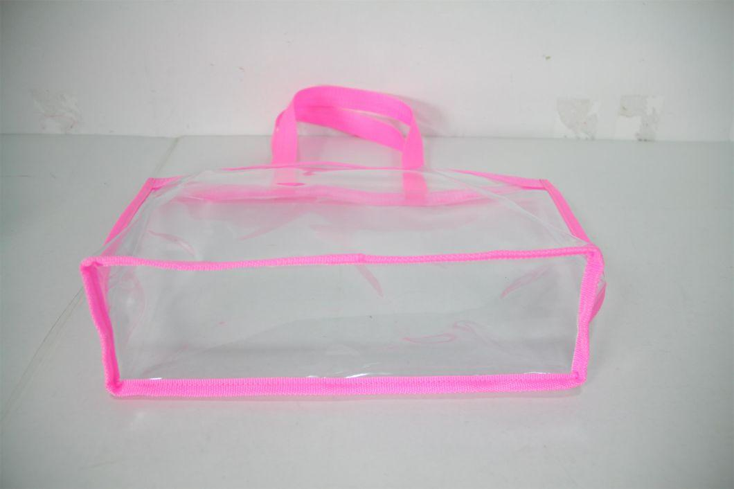 Clear PVC Lady Bags for Promotion, Beach and Shopping, Cosmetic
