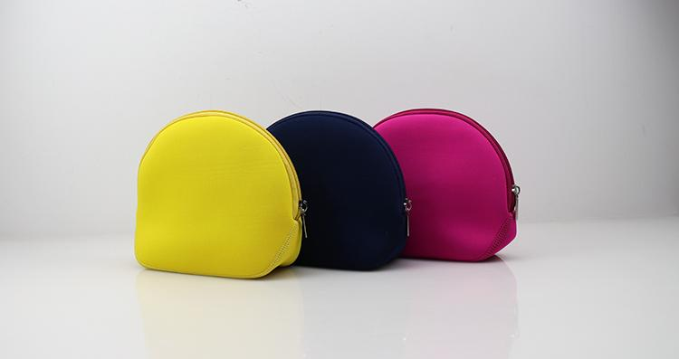 OEM Neoprene Cosmetic Pouch Case Make Up Bag with Zipper