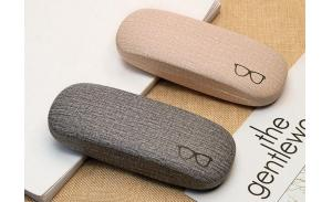 Hard Shell Glasses Case,Linen Fabric Case for Eyeglasses and Sunglasses 4 colors