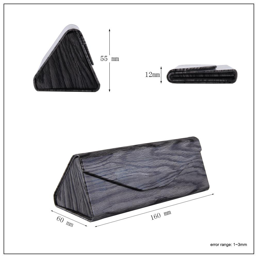 Darhope High Quality Leather Custom Wholesale riangle Eyewear Box pouch glasses case sunglasses Folding Sunglass Case