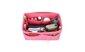 Wholesale Women Felt Removable Handbag Organizer Insert Cosmetic Bag