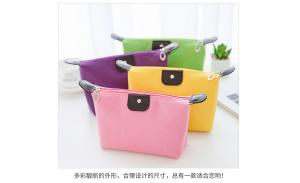 Wholesale Larger Capacity Nylon Fabric Cosmetic Bag Gift Zipper Makeup Bag with Custom Logo Women Travel Storage Bag