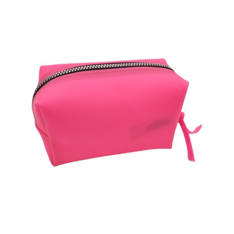 15 Years Factory Hot Color Jelly Pink Mini Travel Cosmetic Bag