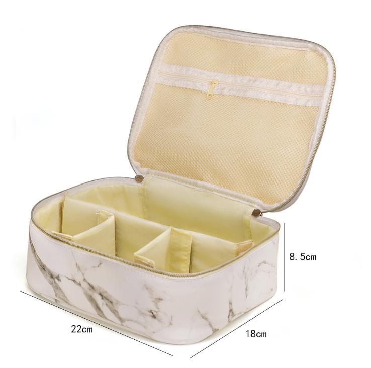 Marble Makeup Bag Portable Travel Cosmetic Bag Organizer Multifunction Case with Gold Zipper Toiletry Bag for Woman