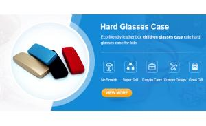 Clamshell hard Optical Eyewear Case eyeglasses Packaging Box