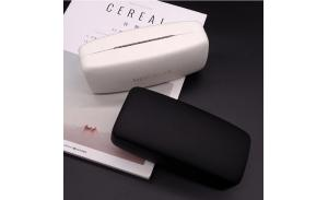 Cheap Wholesale PU Leather Eyeglass Package Box Custom Iron Hard Glasses Case