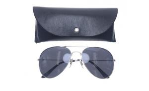 Wholesale black classic PU leather brand custom logo optical sunglass soft case with buttons