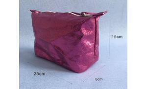promotional makeup pink beauty cosmetic bag small beautiful fashion zipper wholesale women makeup pouch cosmetic bag