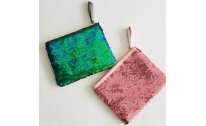 2020  hot sale fashion  sequins  embroidery hand bag  cosmetic bag for girls