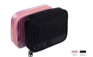 Cosmetic Private Label Professional Pink Wholesale Pvc Small Bags Men Mesh Portable Makeup Bag