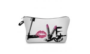 Wholesale word love printed small makeup bag  normal size cosmetic bag