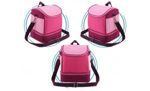 Customize 600D children cooler lunch bag with shoulder strap