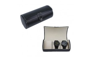 Black PU Leather 3 Roll Travel Watch Box is a stylish high-quality watch box for storing 3 watches. We are the wholesalers and suppliers of watch boxes, offering cheap wholesale, a variety of watch box style design.