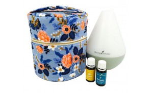 Young Living Essential Oil And Diffuser Case Pattern With Interior Pockets for your oils! Fits Young Living's Desert Mist, Home, Dewdrop, and Rainstone Diffusers