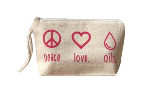 Peace Love Oils Essential Oils Bag With Wristlet Perfect cosmetic bag to hold your favorite essential oils
