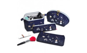 Portable Embroidery Storage Wholesale Canvas Cosmetic Bag with handbag,Brush pouch,Cosmetic bag,Wallet bag