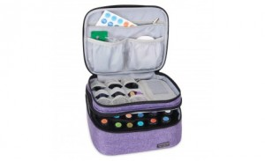 Double Layer Organizer Nylon Essential oil Roller Bottles and Accessories Protective Carrying Case Bag