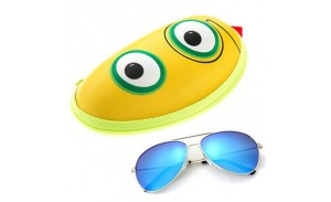 Children Small Hard Shell Eyeglass Case Colorful Kid's Glasses Case