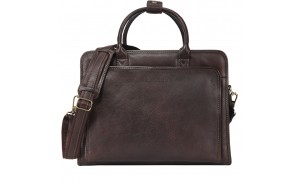 Classical Vintage Italian Leather Laptop handbag Tote Messenger Briefcase for Men